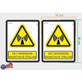 Allerhandestickers.nl ISO7010 W005 niet ioniserende magnetische straling M 2 st