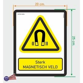 Allerhandestickers.nl ISO7010 W006 sterk magnetisch veld  sticker