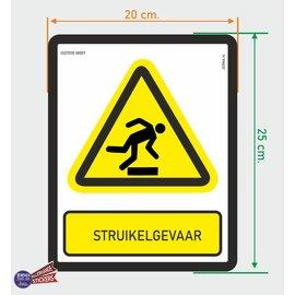 Allerhandestickers.nl ISO7010 W007 struikel gevaar sticker 20 x 25 cm