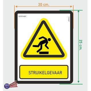 Allerhandestickers.nl ISO7010 W007 struikel gevaar Waarschuwing sticker 20 x 25 cm