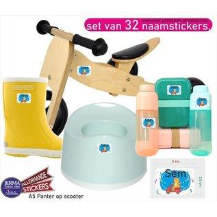 Allerhandestickers.nl Naamsticker krokodil op stepjes. A3