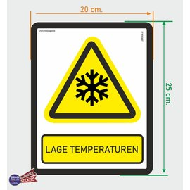 Allerhandestickers.nl ISO7010 W010 lage temperaturen sticker