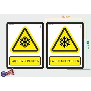 Allerhandestickers.nl ISO7010 W010 lage temperaturen Waarschuwing M set 2 stickers 14x18 cm