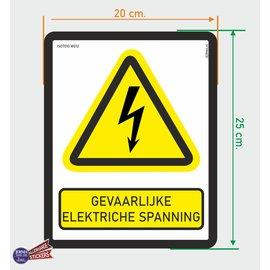 Allerhandestickers.nl ISO7010 W012 Gevaarlijke elektrische spanning  sticker