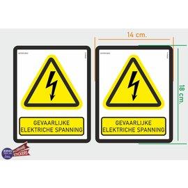 Allerhandestickers.nl ISO7010 W012 Gevaarlijke elektrische spanning M set 2