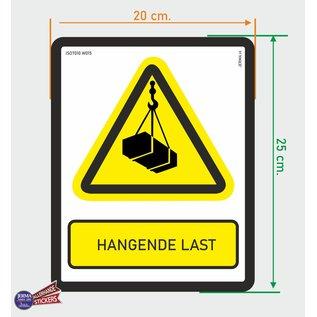 Allerhandestickers.nl ISO7010 W015 hangende last Waarschuwing sticker 20x25cm