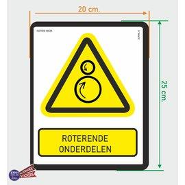 Allerhandestickers.nl ISO7010 W025 roterende onderdelen sticker 20x25cm