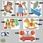 Walldecor Kinderkamer speelgoed set 14 decoratie sticker.