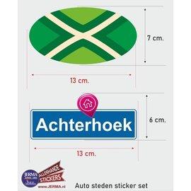 Allerhandestickers.nl Achterhoek streek vlaggen auto stickers set van 2