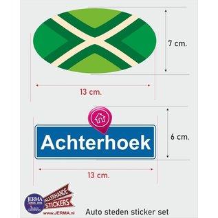 Allerhandestickers.nl Achterhoek streek vlaggen auto stickers set van 2 stickers
