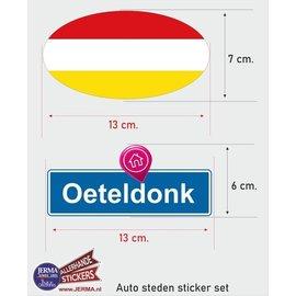 Allerhandestickers.nl Oeteldonk vlaggen auto stickers set van 2 stickers