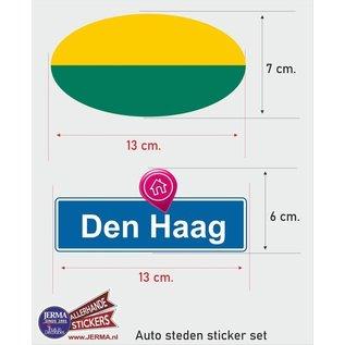 Allerhandestickers.nl Den Haag steden vlaggen auto stickers set van 2 stickers