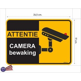 Allerhandestickers.nl Attentie camera bewaking sticker.