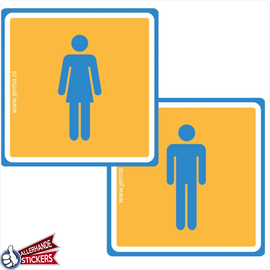 Allerhandestickers.nl Dames en Heren toilet pictogram stickers.