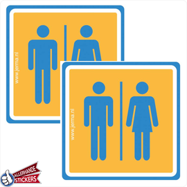 Allerhandestickers.nl WC sticker man, vrouw. (set van 2 stickers)