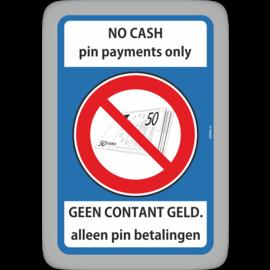 Allerhandestickers.nl No Cash  Geen contant alleen pin sticker.