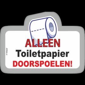 Allerhandestickers.nl Alleen toiletpapier doorspoelen sticker