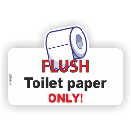 Allerhandestickers.nl Flush toilet paper only decal sticker
