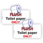Allerhandestickers.nl Flush toilet paper only  set 2 stickers