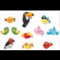 Walldecor vogelbescherming raamstickers set 11 vrolijke vogels