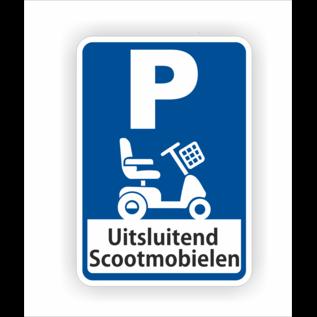 Allerhandestickers.nl Scootmobiel parkeerplaats sticker