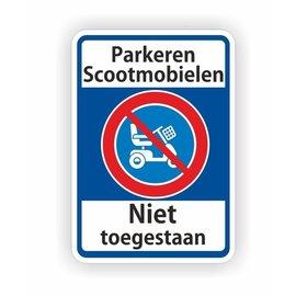 Allerhandestickers.nl Scootmobiel parkeren niet toegestaan sticker
