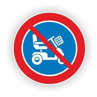 Allerhandestickers.nl Parkeren scootmobiel verboden sticker 20cm