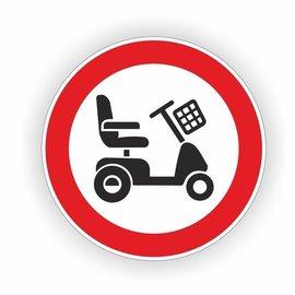 Allerhandestickers.nl Verboden toegang scootmobiel sticker 20 cm.