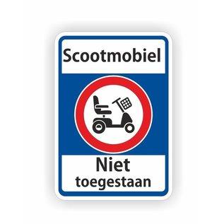 Allerhandestickers.nl Scootmobiel niet toegestaan verkeersbord sticker