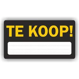 Allerhandestickers.nl TE KOOP aankondiging sticker.