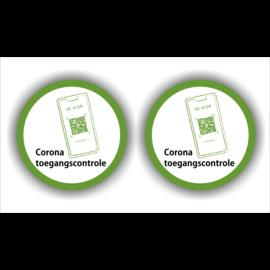 Allerhandestickers.nl Corona toegangscontrole  set  van 2 stickers.