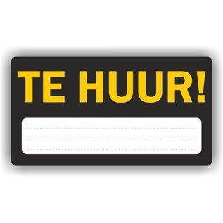 Allerhandestickers.nl TE HUUR aankondiging sticker.