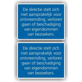 Allerhandestickers.nl De directie stelt zich niet aansprakelijk .. sticker set 2 st.