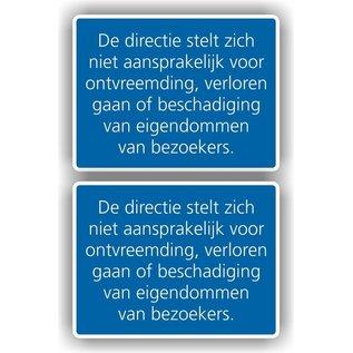 Allerhandestickers.nl De directie stelt zich niet aansprakelijk voor…. sticker set van 2 stuks.