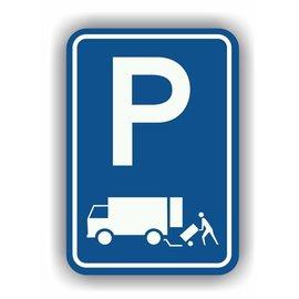 Allerhandestickers.nl Parkeren laden en lossen verkeersbord sticker
