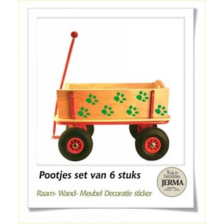 JERMA decoraties Pootjes set van 6 stickers