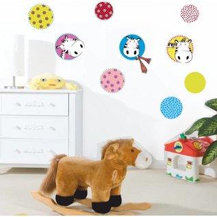 DecoKids.nl Kinderkamerdecoratie stickers model Zebra muur-, meubelstickers.