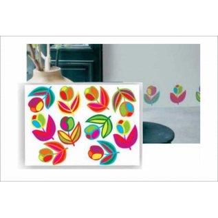 DecoKids.nl Decoratie stickers bloemen Tulpen muurdecoratiestickers