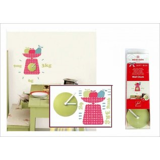 DecoKids.nl Kinderkamer decoratie stickers Wandklok met keukenweegschaal decoratie.