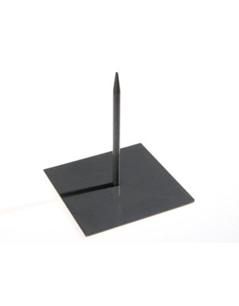 Metalen pin zwart groot