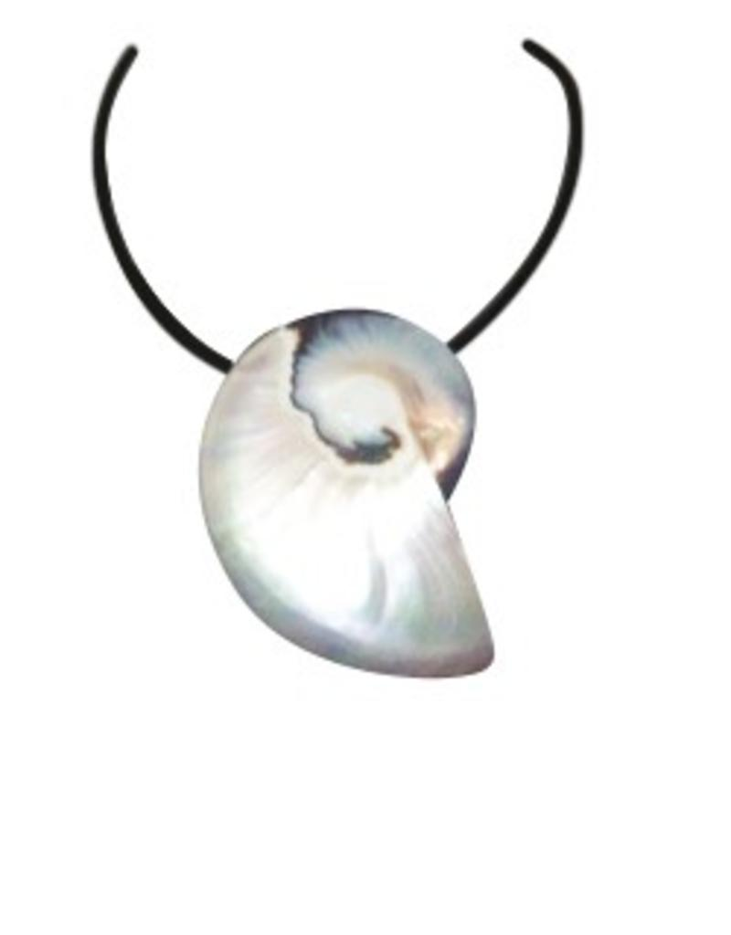 Nautilus rubber necklace