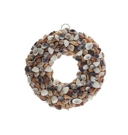 Shell wreath brown