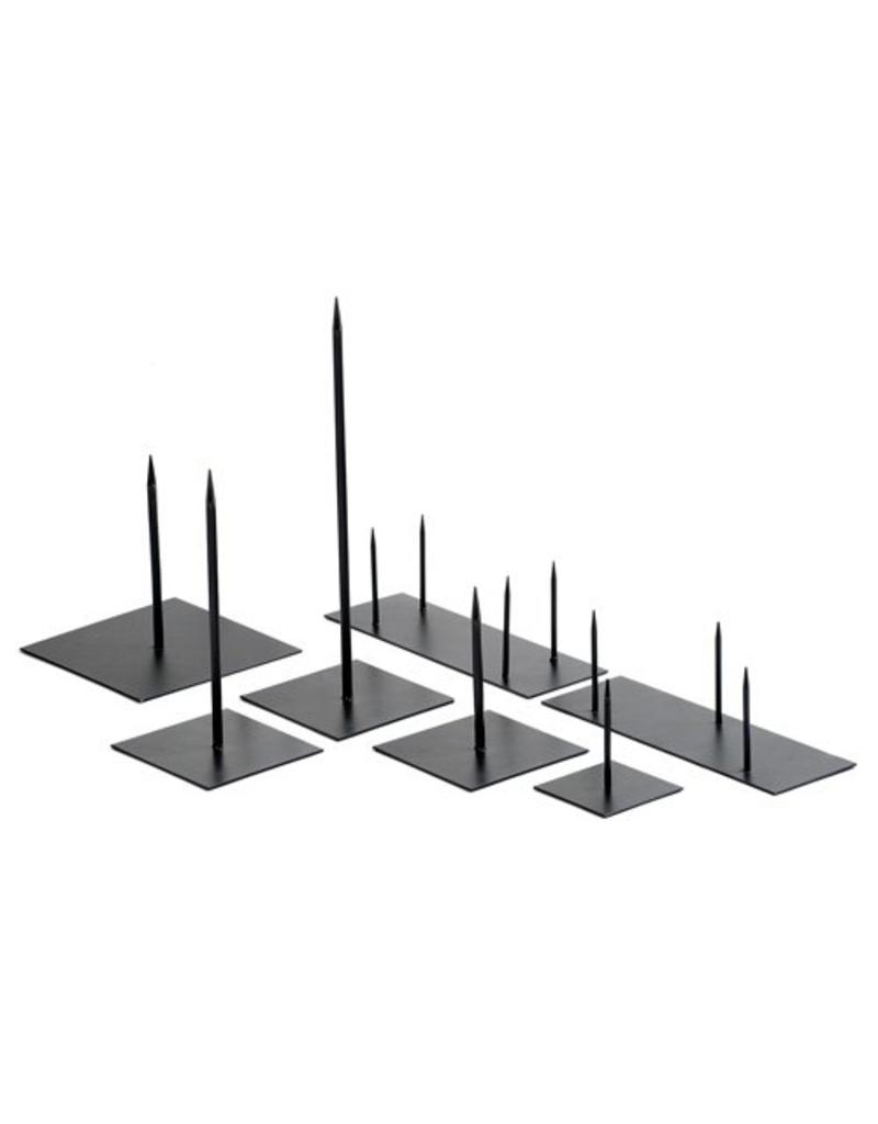 Metal pin 40 cm black medium