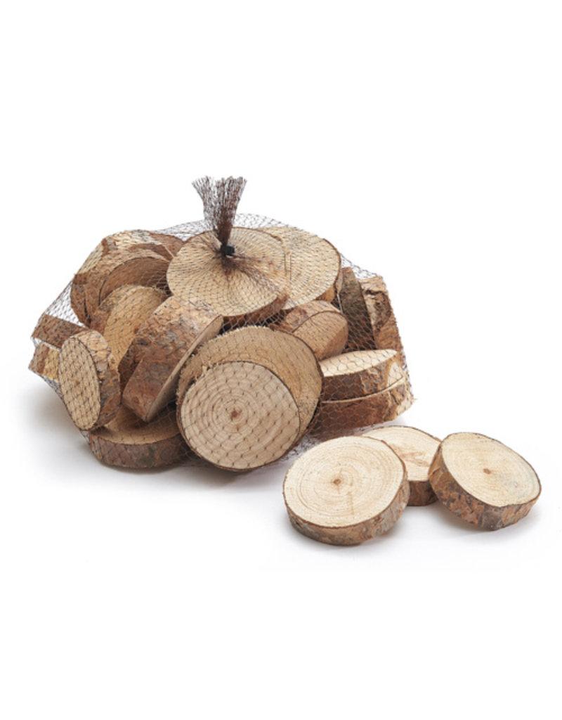 Natural wood discs