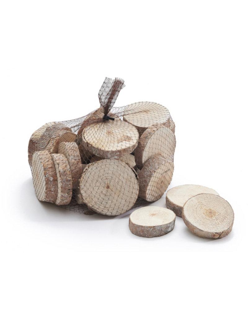 Wood discs white look