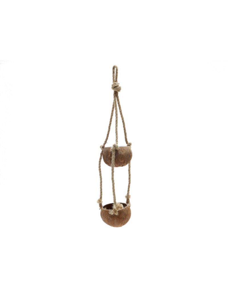 Kokosnoot hanger met twee noten