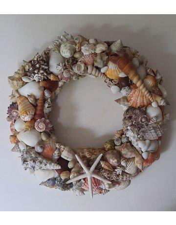 DIY package shell wreath