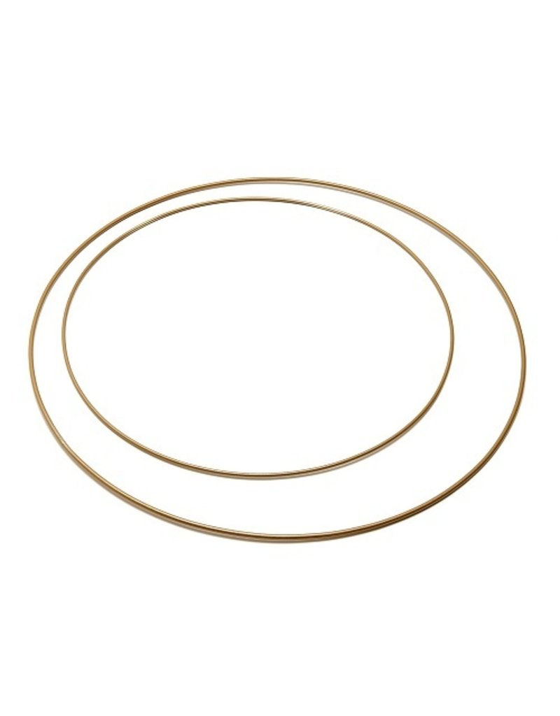 Metal ring  30 cm  Gold