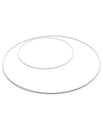 Metalen Ring 40 cm  Wit