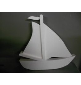Styrofoam sailboat